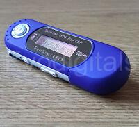 BLUE EVO 16GB MP3 WMA USB MUSIC PLAYER WITH LCD SCREEN FM RADIO VOICE RECORDER +