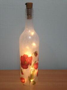 LED Light up poppy  Design Bottle Unique Gift