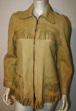 VINTAGE Buckskin Deerskin Leather Buffalo Bill Jacket Fringe Western Frontier