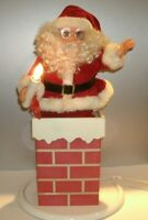 Rare Vintage Christmas 1950-60's Santa Claus in the Chimney Motionette Lighted