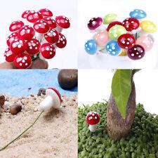 10Pcs Cute Terrarium Tiny Mushroom Miniature Dollhouse Fairy Garden Accessories