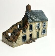 15mm / 10mm Wargame building. Ruined Townhouse Wargame Scenery. Terrain