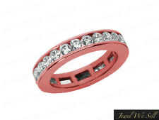 1.80Ct Round Diamond Classic Eternity Anniversary Band 14k Rose Gold SI1 Channel