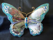 "Thomas Kinkade ""Garden of Beauty"" Butterfly Wall Decor Bradford Exchange"