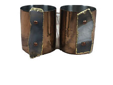 Anthropologie set of 2 copper mugs with gold dipped agate geode handles