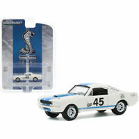 "1965 FORD MUSTANG SHELBY GT350R #45 WHITE ""ANNIVERSARY"" 1/64 GREENLIGHT"