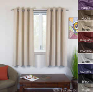 BLOCKOUT BLACKOUT PURE Fabric Thermal Insulated Eyelet Curtains 2x140(W)x160(L)