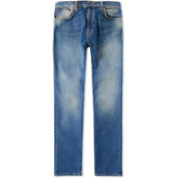 Neu - Nudie Herren Slim Fit Vintage Stretch Jeans Hose Thin Finn Flood Used