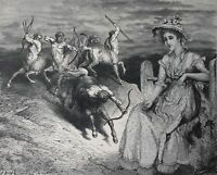 Original signed surrealist collage antique surreal goth gothic Victorian art....