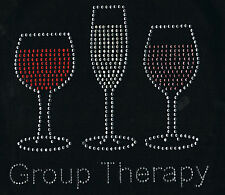 Wine Rhinestone iron on Bling Transfer DIY Hot fix Applique Group Therapy
