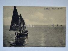 CATTOLICA saluti dal mare barca vela sailing boat Rimini vecchia cartolina