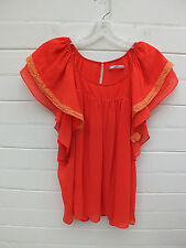 BLESS'ED ARE THE MEEK TOP BLOUSE EMBROIDERED SMOCK BOHO TUNIC SHIRT 8 S