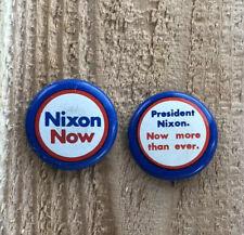 Vintage Richard Nixon Presidential Political Pin  Lapel Badge Button Set Of 2