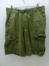 HOLLISTER by Abercrombie thick green longer CARGO Shorts board bermuda mens 31