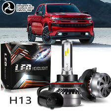 Pair H13 9008 LED Headlight Conversion Kit 60W 12000LM HI-LO Beam Bulbs 6000K X