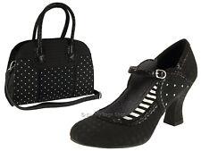 Ruby Shoo Rosalind Black Womens Mary Jane Shoes 5 UK 38 EU 7 US