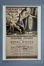 R&L Modern Postcard: Shipping, 1934 Poster Port of London Steam Cruises