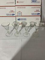 4 Clear Glass Stemware Martini Cocktail Glasses