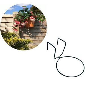 6 FENCE HOOKS PLANT POT HANGER HOLDER RING. HANG  FLOWER POTS ON  FENCES.RAILING