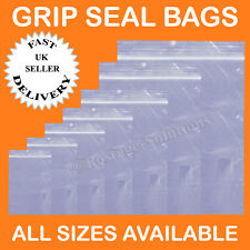 """1000 Grip Seal Resealable Self Seal Clear Poly Plastic Bags 9"""" X 12"""" CHEAPEST"""