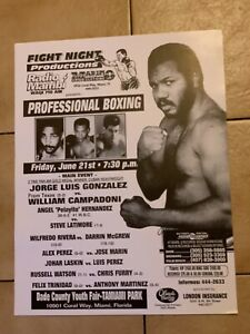 "Rare 1991 Felix ""Tito"" Trinidad Original Onsite Vintage Boxing Poster Mint Clean"