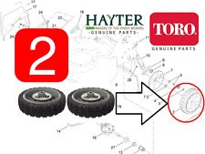 "Geninue Hayter Toro R53S R53A 21"" recycleur Roues Arrière (Paire) 117-4104 -720"