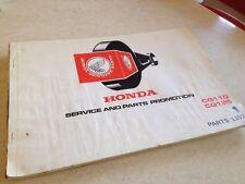 Honda parts list CG110 CG125 CG 125 110 édition 1