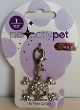 PerfectlyPet Skull & Crossbones Rhinestone Collar Charm (Set of 3)