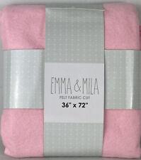 "Emma & Mila Felt Fabric Cut Craft 36"" x 72"" Pink  Lot Of Two New, Never Opened"