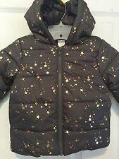 Gymboree Gold Star Gray Puffer Coat X-Small 4 XS Winter Jacket NEW Girls Warm