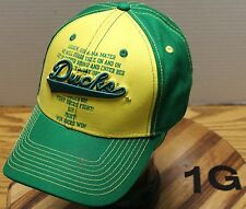 FAN FAVORITE OREGON DUCKS HAT WITH FIGHT SONG ADJUSTABLE IN VERY GOOD CONDITION