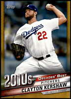 Clayton Kershaw 2020 Topps Decade's Best Series 2 5x7 Gold #DB-92 /10 Dodgers