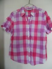 Sag Harbor Multi Cuadros Blusa Camisa Talla Pxl Euc