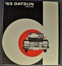 1963 Datsun Cedric Sedan Sales Brochure Folder Nissan Excellent Original 63
