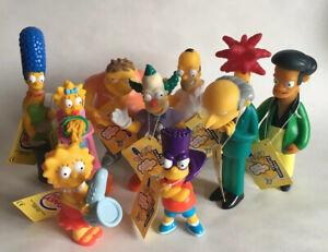 Rare 2000 The Simpsons Action Figure Toy Full Set Bundle Burger King Mr Burns!