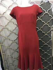 lafayette 148 dress, rust colored (auburn) new with tags was $498.  Cap sleeve.