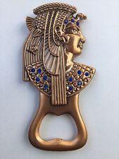 **Unique Ancient Egyptian Nefertari Head Bottle Opener Fridge Magnet Copper