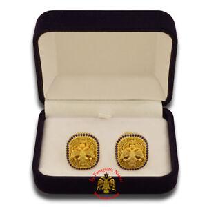 Orthodox Handmade Cufflinks Gold Plated in Various Christian Desings Manschetten