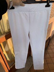 Pantaloni Leggings Bianco Ottico Nope Tg. M