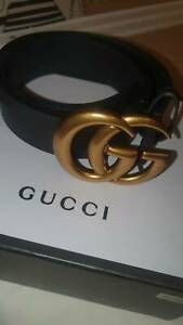 Double G Leather Gucci Belt