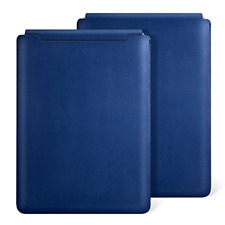 "Apple Macbook Pro Retina 15"" Leather Pouch Sleeve Bag Case Cover Midnight Blue"