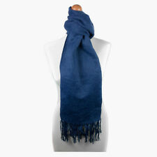 Fashionable Light Blue Alpaca Wool Blend Unisex Scarf by INKITA.Chic Style.