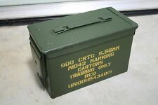 1 US Military Issued M2A1 Ammo Can Box Surplus (RARE) 5.56 MM -  9MM -  .50 Cal