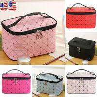 Professional Large Makeup Bag Cosmetic Storage Handle Organizer Travel Kit USA