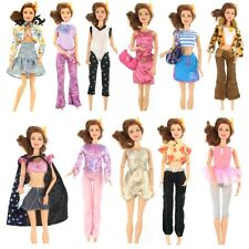 15 Items Fashion Party Daily Wear Dress Outfits Clothes Shoes For Barbie Doll