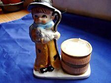 1978 Christmas Luvkins Porcelain Candle Holder Shepherd Boy Figurine Jasco #11