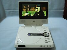 "7"" Zenith portable DVD player with swivel screen, car and home charger TESTED!"