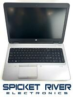 "Parts/Repair - HP ProBook 650 G3 15"" i7-7600U 2.80GHz No HDD 16GB RAM #58116"