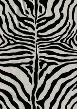 30 x 30 Floor Pillow Cover Zebra Faux Fur Animal Print / large pillow / Dog bed
