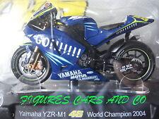 MOTO GP 1/18 YAMAHA YZR-M1 # 46 COLLECTION  ROSSI WORLD CHAMPION 2004